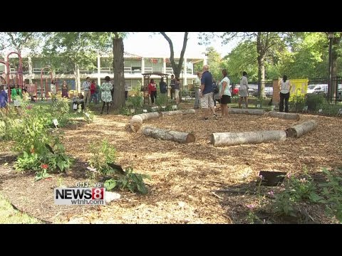 New schoolyard habitat at Conte West Hills Magnet School