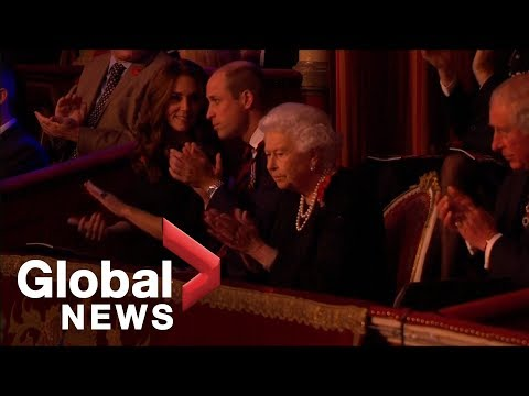 Queen, royal family attend 'festival of remembrance'