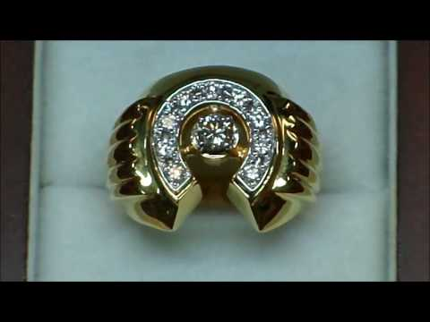 YARING PLATERO Video 142 - Horse Shoe Ring For A Client In Ontario Canada (Description Below)