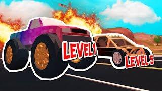 LEVEL 5 MONSTER TRUCK VS ATV RACE IN ROBLOX JAILBREAK!!