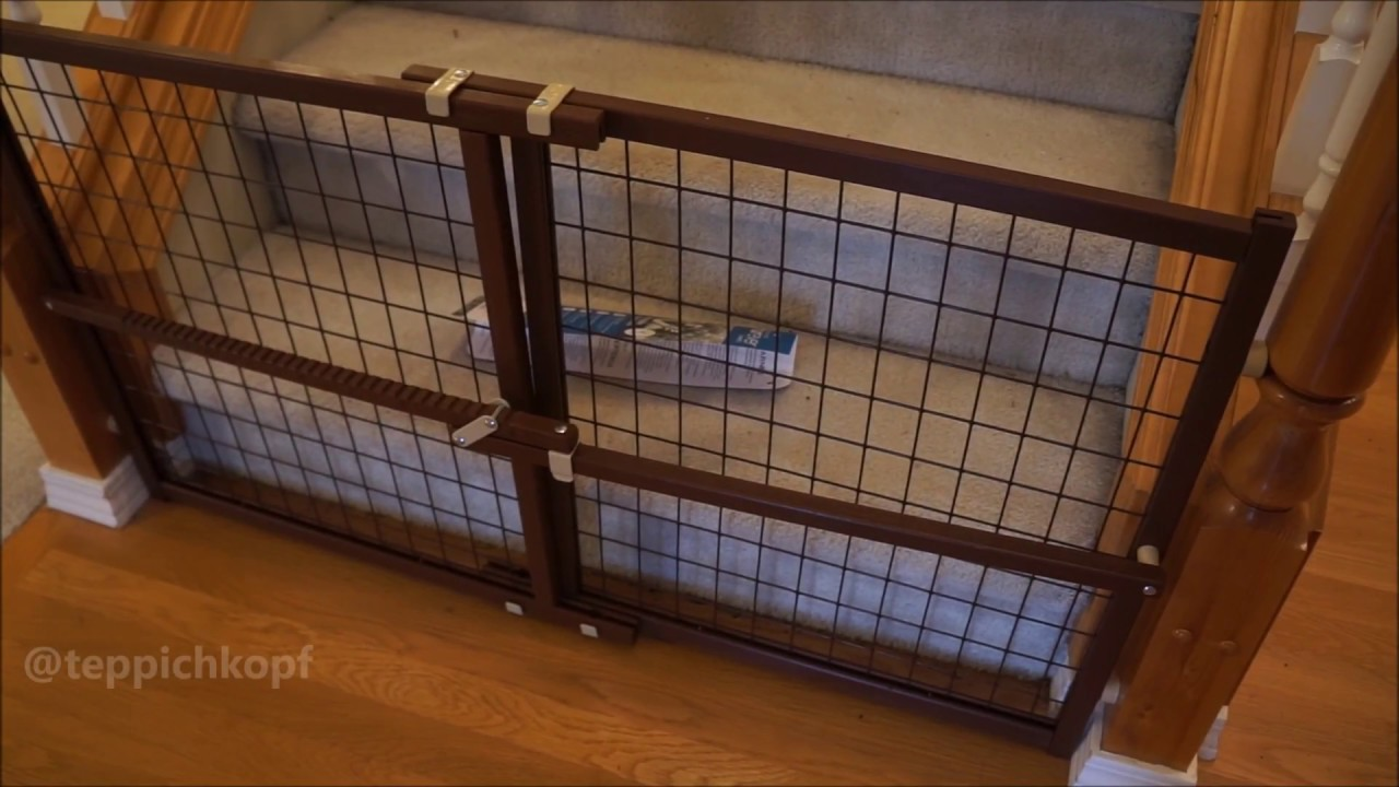Evenflo Now And Furever Wire Pet Gate Works Well On Stair Banister