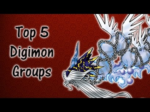 Top 5 Digimon Groups
