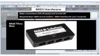 Cubase 5 Tutorial - Lesson 13: MIDI Hardware
