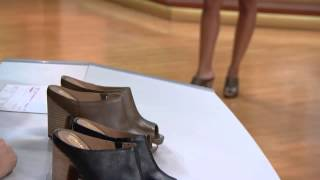 Clarks Artisan leather BLock Heel Mules - Okena Chic with Jayne Brown
