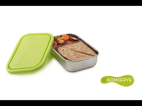 Stainless Steel Divided Lunch Box From U Konserve
