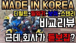 [전동공구 비교리뷰]대한민국 전동공구VS디월트+밀워키+…