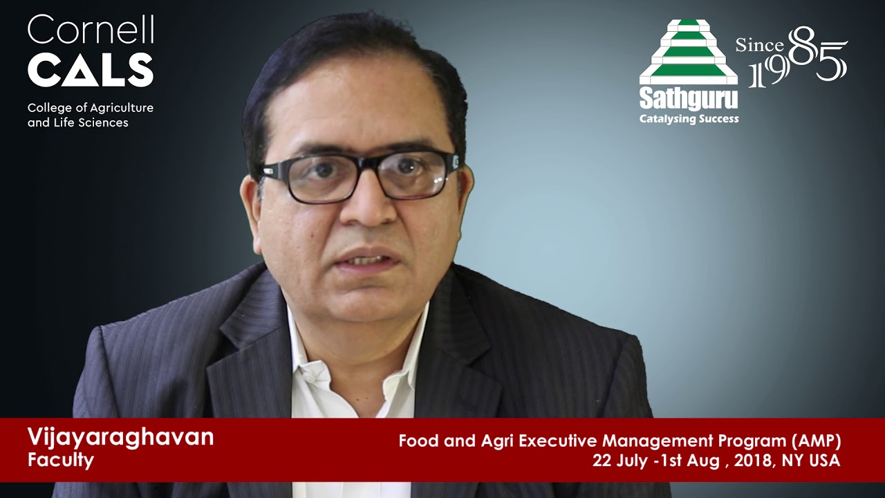 Cornell - Sathguru: Food and Agri Executive Management Program