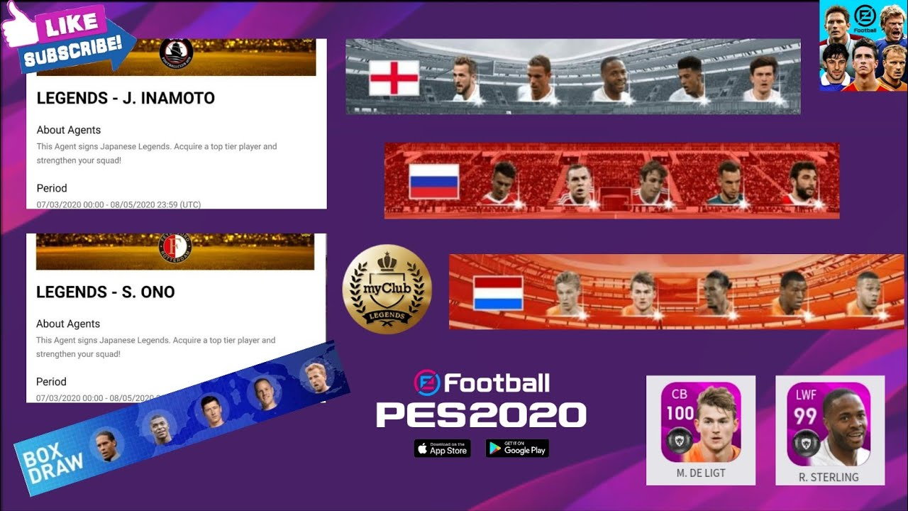 FREE LEGENDS😱 , NATIONAL SELECTIONS & BOX DRAWS JUL 06 '20 || PES 2020 Mobile & PC
