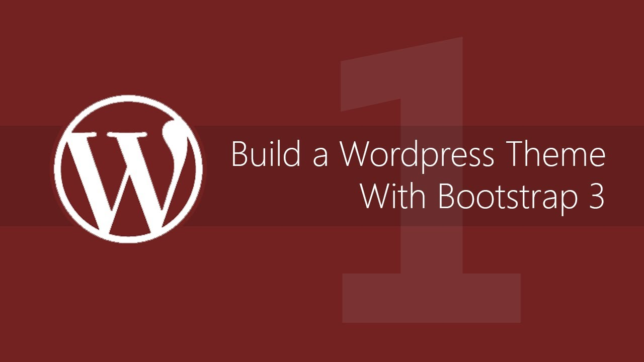 Make a WordPress theme with Bootstrap 3