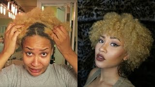 The Process| How I Bleach, Tone AND Style My Natural Hair