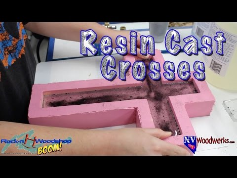 Resin Cast Crosses in a Custom Silicone Mold - Collaboration with Rock-n H Woodshop