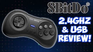 8Bitdo M30 2.4ghz Mega SG Sega Controller Test & Review!