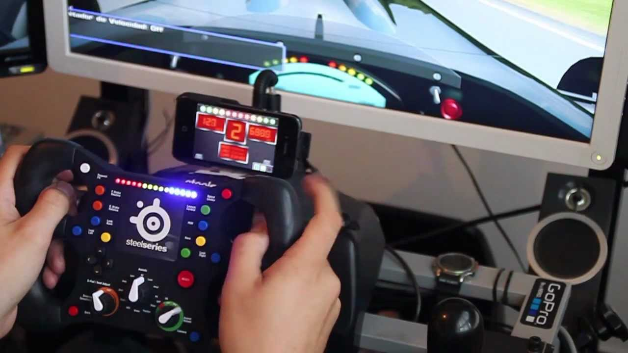 Sim Racing Cockpit With 3 Screens And Quick Release System