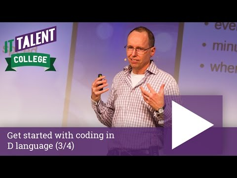 Walter Bright: Get started with coding in D language (3/4)