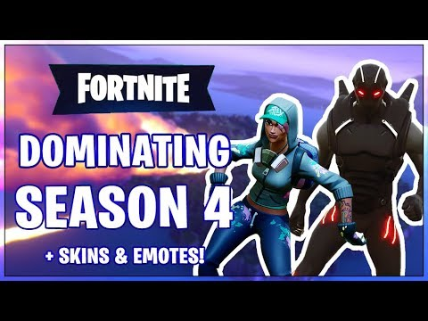 Dominating Fortnite Season 4 - New Skins & Emotes! (Fortnite Battle Royale)