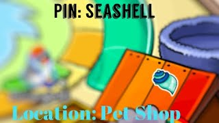 Seashell Pin Location || Club Penguin Online
