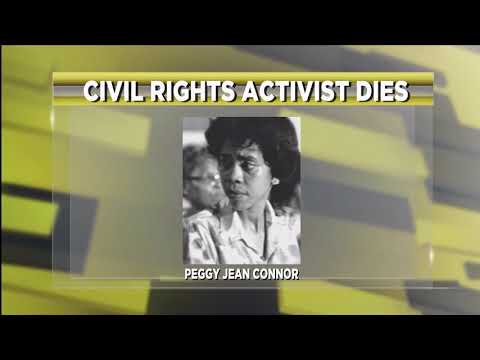Civil Rights Activist Dies, Peggy Jean Connor