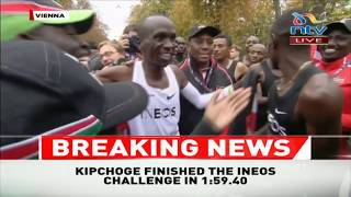 DP Ruto, Kipchoge's wife join in celebrations after his win in Vienna
