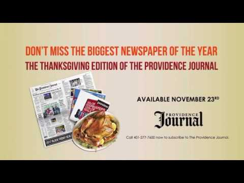 Providence Journal Thanksgiving Newspaper Commercial