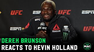 Derek Brunson reacts to Kevin Holland's constant talking during fight; Calls out Paulo Costa
