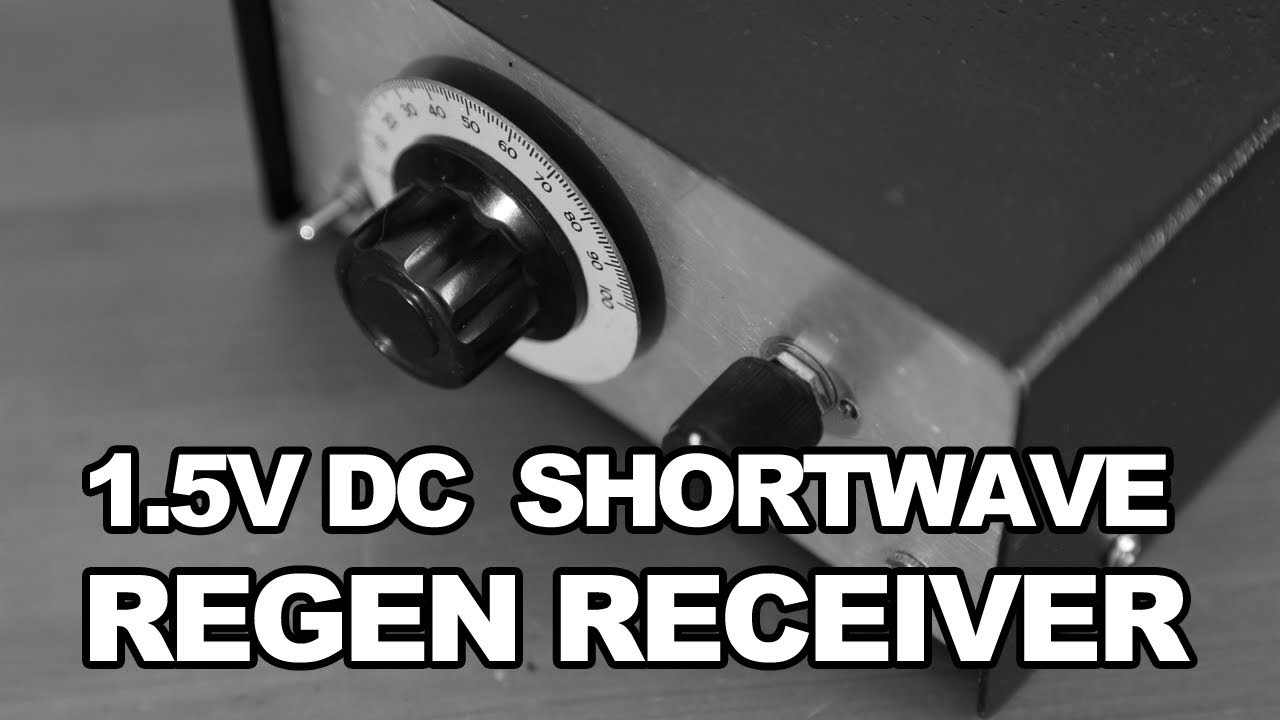 15v Dc Shortwave Regenerative Receiver Fet Regen Youtube 6 Transistor Super By Bc548