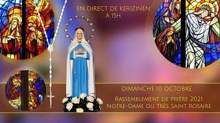 Rosaire du dimanche 10 octobre, replay