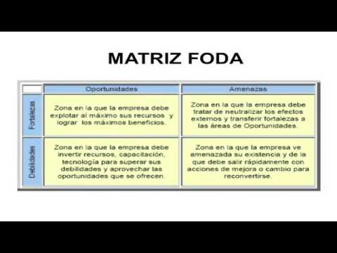 Matríz FODA, analisis de factores internos y externosиз YouTube · Длительность: 12 мин7 с