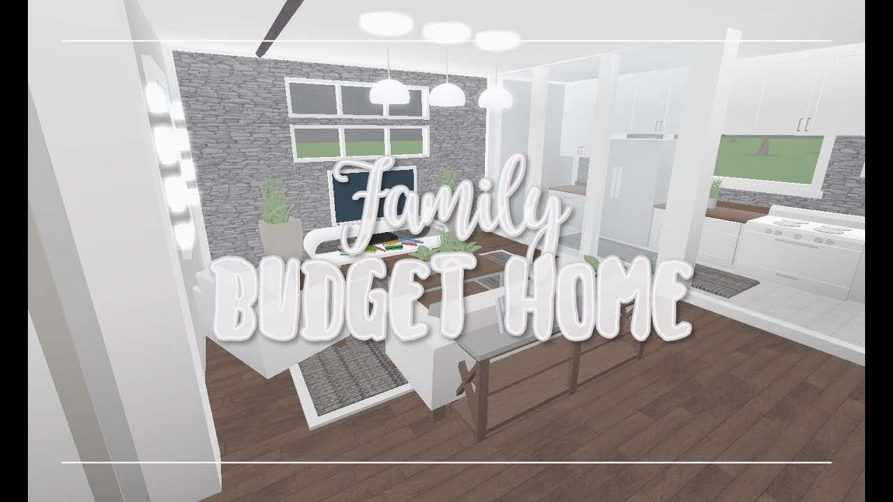 Roblox Bloxburg Family Budget Home 25k Youtube