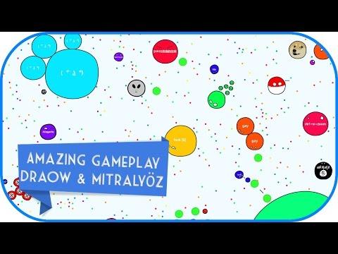 Agar.io Draow & Mitralyöz / Amazing Gameplay / 60FPS