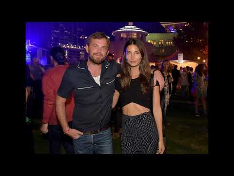 model Lily Aldridge and her husband Musical artist Caleb Followill  and Their daughter