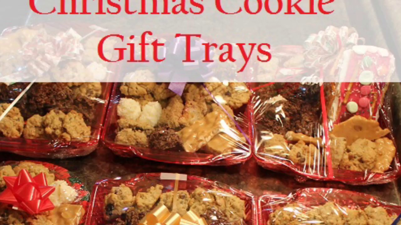 Christmas Cookie Trays.Christmas Cookie Gift Trays
