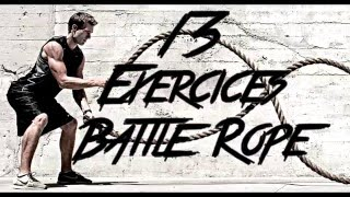 13 Exercices Battle Rope (Type Crossfit)
