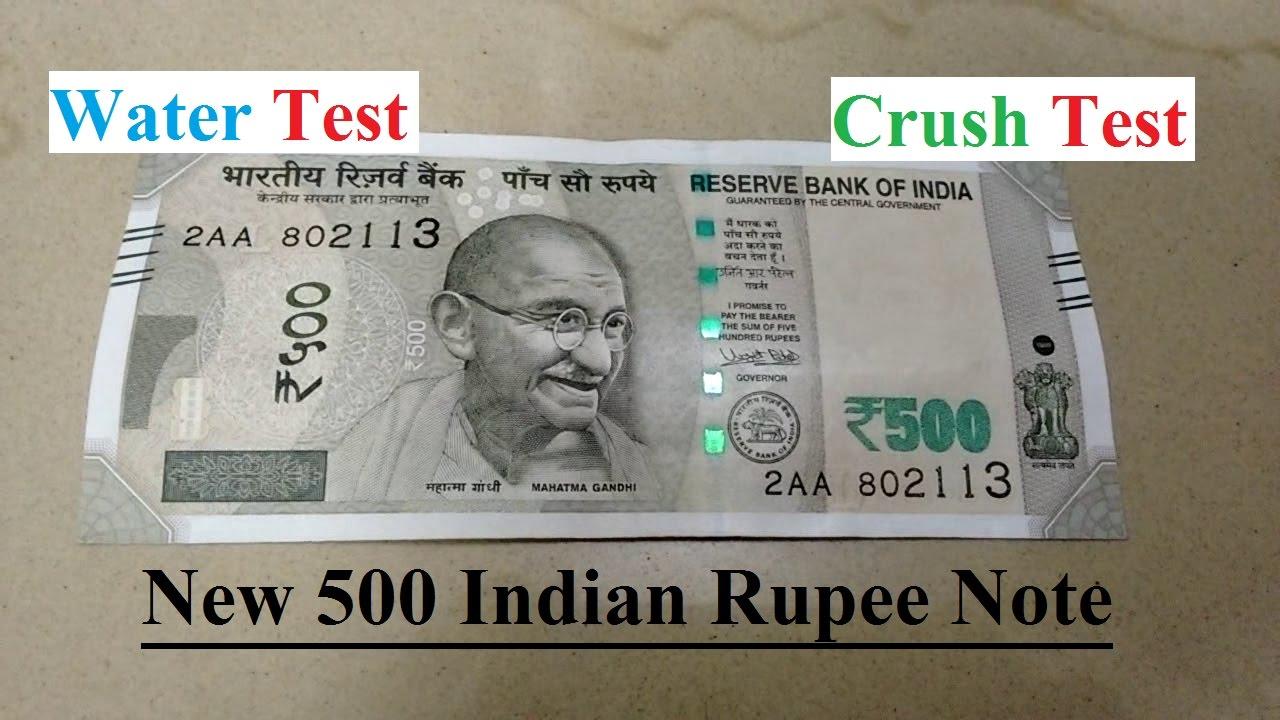 Washing New 500 Indian Ru Note No Color Change Crush Effect Watch Full Video You