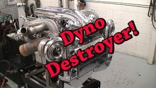 Dyno Destroyer!  2200 HP Mirror Turbo Chevy 632 BBC.  Nelson Racing Engines.  NRE TV Episode 203.