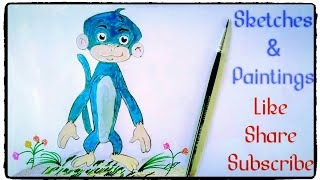 How to draw Jaggu from chhota Bheem Painting Tutorial simple easy step by step for kids. Draw: Jaggu