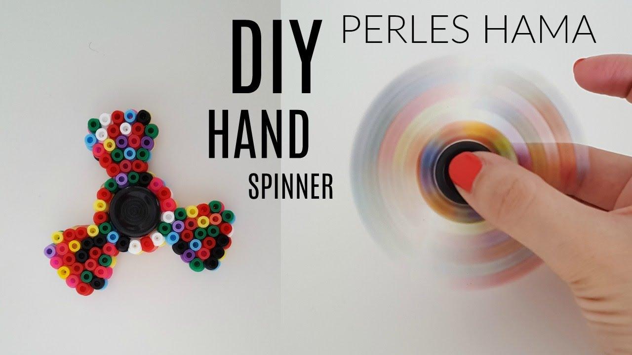 diy comment fabriquer un hand spinner en perles hama. Black Bedroom Furniture Sets. Home Design Ideas