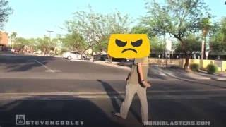Train Horn Pranks : GUY GETS ANGRY (Tdwpplaya)