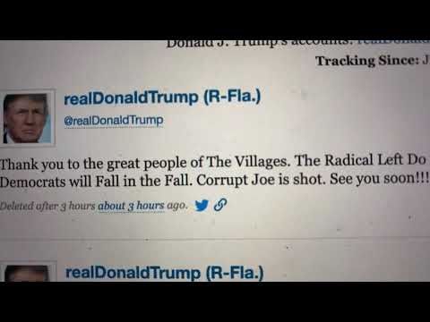 "Trump Retweet Of The Villages White Power Video Reveals Not Just Racism But ""Corrupt Joe Shot"" WTF?"