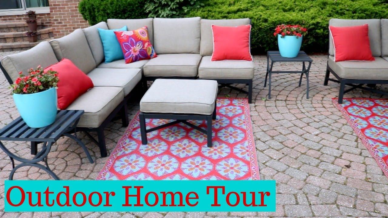 new patio decor outdoor home tour youtube new patio decor outdoor home tour