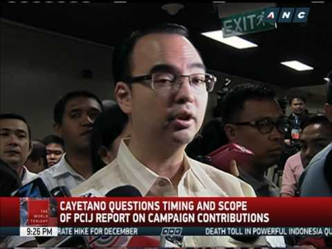 Cayetano questions timing, scope of report on campaign contributions