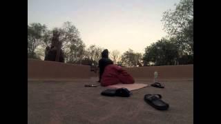 India Rooftop Sunrise Yoga Santiniketan Saturaday Market Baul Music