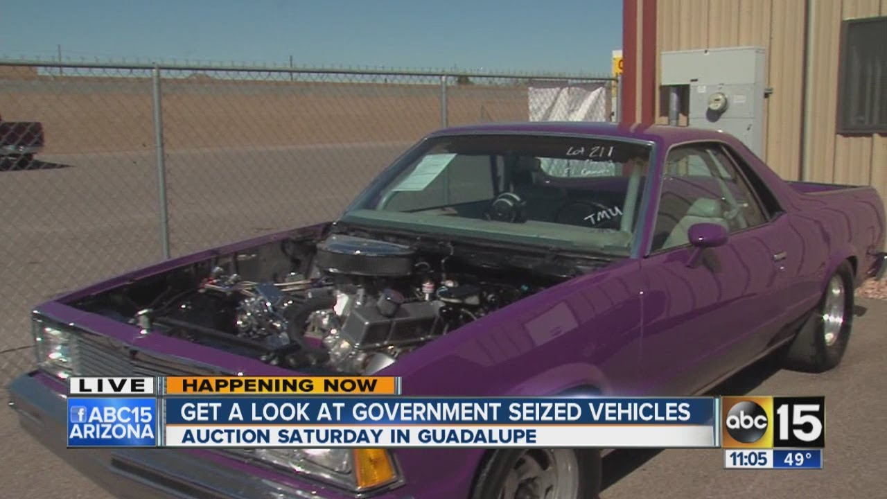 Goverment-seized cars up for auction in Valley - YouTube