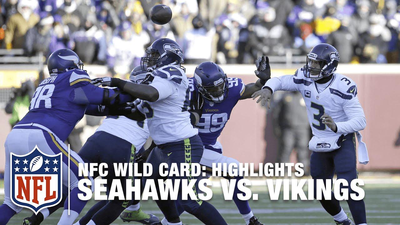 621a725e Seahawks vs. Vikings   NFC Wild Card Highlights   NFL