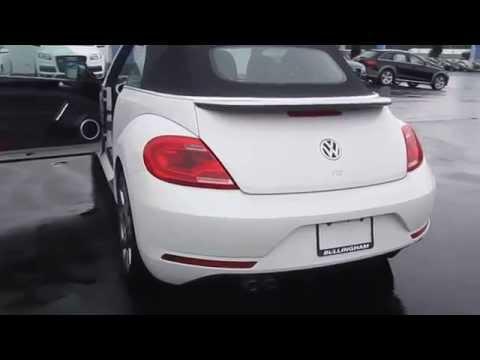 2014 Volkswagen Beetle, Oryx White W/ Black Top - STOCK# 110027 - Walk around