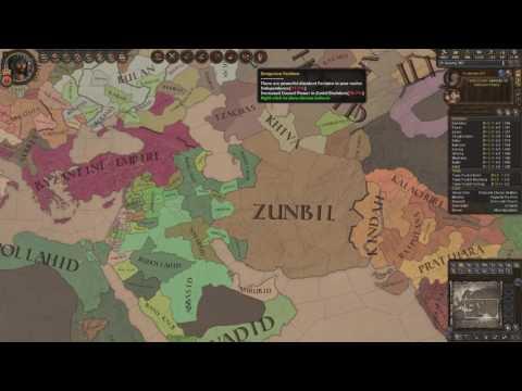 Crusader Kings 2 Ironman Timelapse, From Duke of Zunbil to Emperor of the Sun (Zunist Run) 5/7