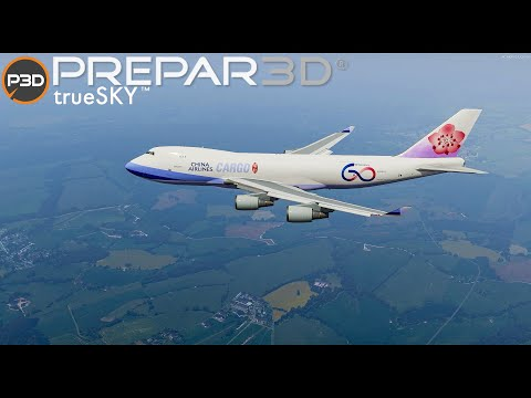 P3DV5.1   New Delhi to Luxembourg   China Airlines Cargo   Boeing 747-400F   VIDP - ELLX
