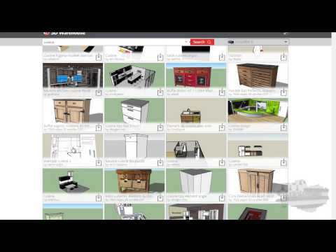 tuto google sketchup mod lisation d 39 une maison meubler l int rieur youtube. Black Bedroom Furniture Sets. Home Design Ideas