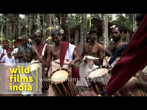 Chenda and Elathalam percussionists from Kerala
