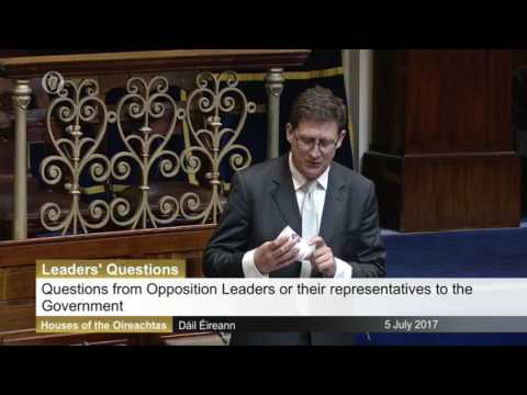 Eamon Ryan brings rubbish into the Dáil