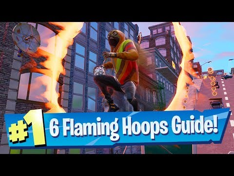 Jump Through All 6 Flaming Hoops During Downtown Drop LTM - Fortnite Battle Royale
